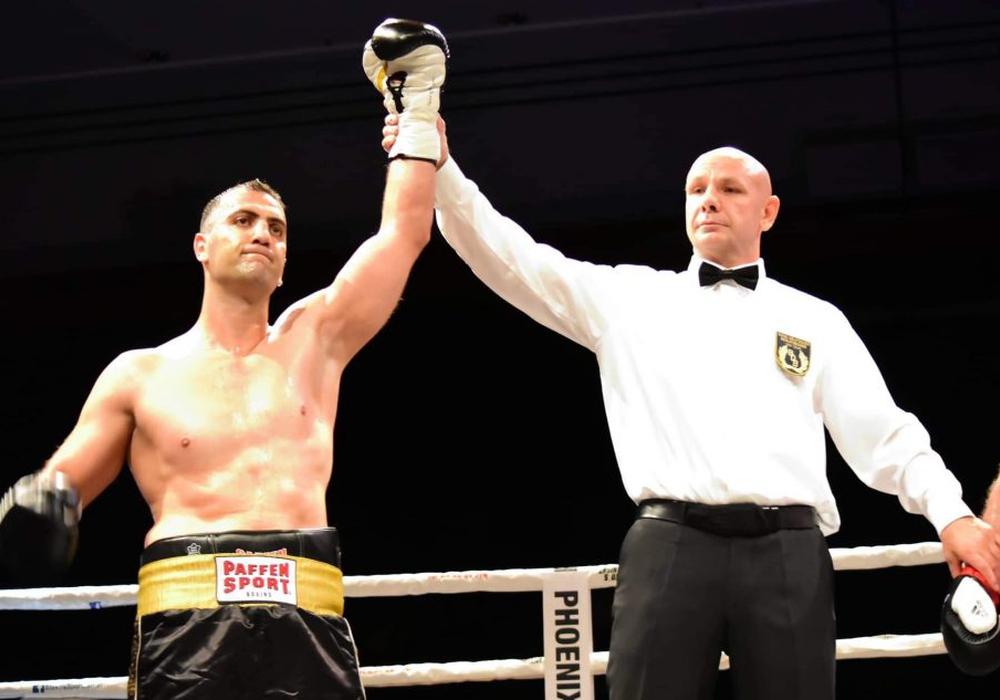 """Huck-Warrior"" Armenak Hovhannisyan wird in Braunlage um den World Boxing Council Asian Boxing Council Light Heavy Title boxen. Foto: MH Boxing"