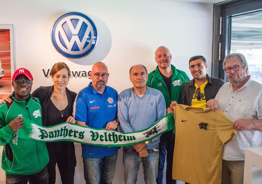 Zu Gast im Eintracht-Stadion: Panthers Veltheim. Foto: VW