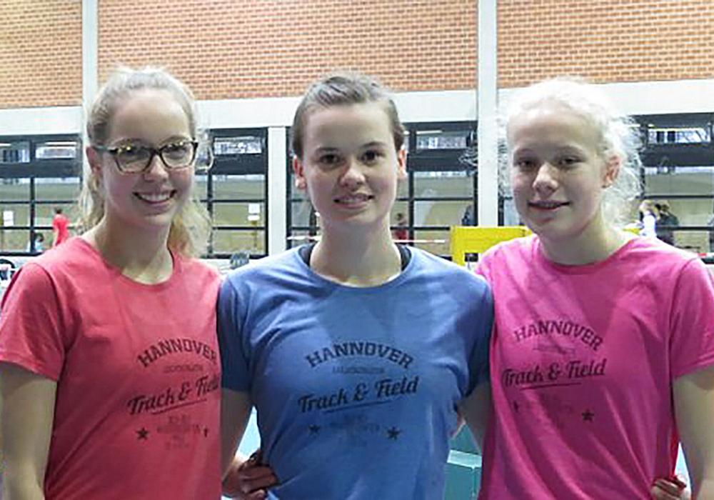 Starke Leistungen in Hannover (v.l.): Paula Wilkening, Leonie Böhm, und Jelde Jakob. Foto: privat