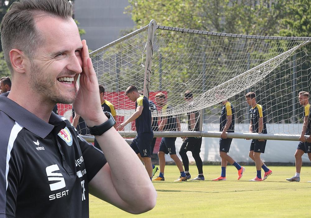 Die heiße Phase der Vorbereitung beginnt für den neuen Cheftrainer Christian Flüthmann (li.) und sein Löwenrudel. Fotos: Agentur Hübner