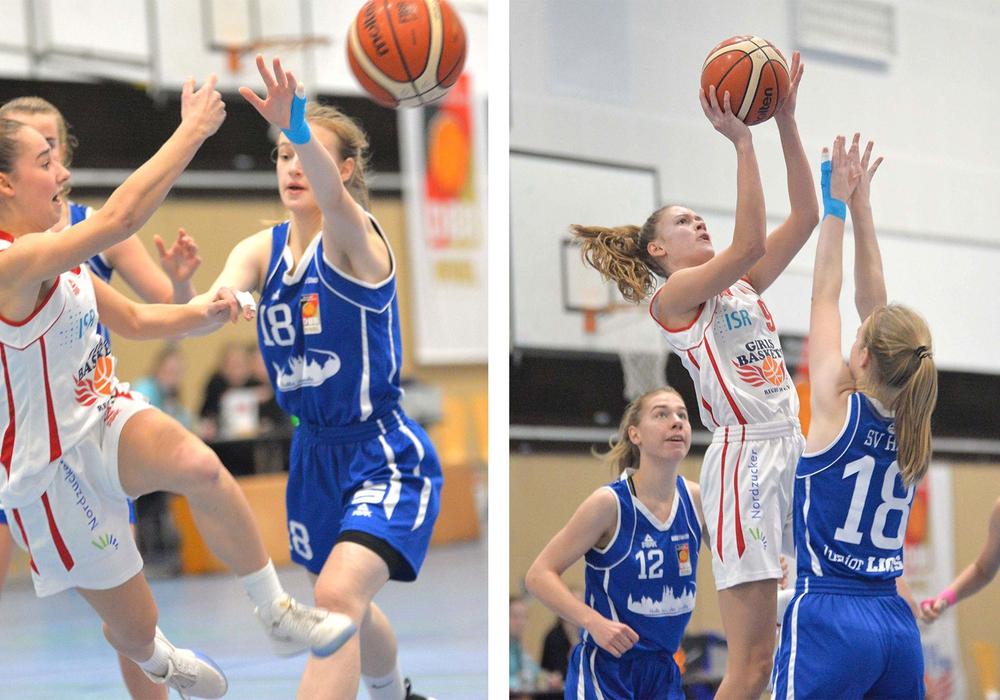 Sina Geiilhaar (linkes Bild) und Lina Falk in Aktion. Fotos: Thorsten Wildrich