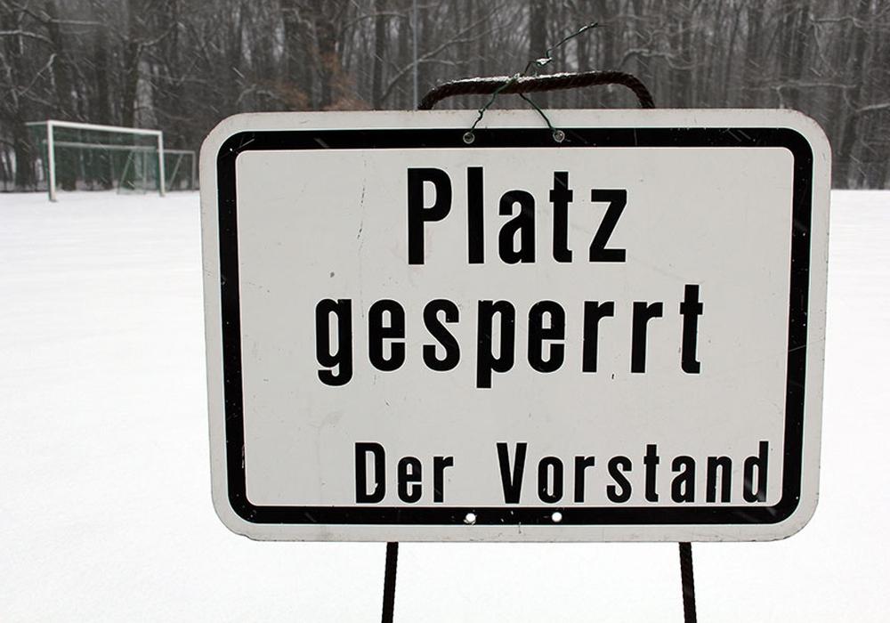 In der Winterpause gesperrt. Foto: Frank Vollmer