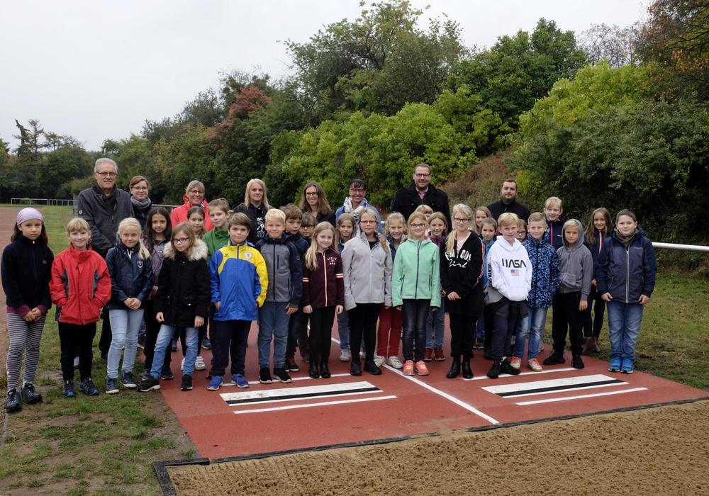Ende September wird die neue Weitspringanlage offiziell eingeweiht. Foto: TSV Grasleben
