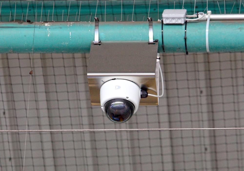 Sechs dieser Rundum-Kameras wurden im Eintracht-Stadion vor der Saison installiert. Foto: Frank Vollmer