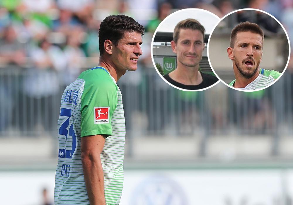 Neue Kapitäne: Mario Gomez und seine Stellvertreter Paul Verhaegh und Ignacio Camacho. Foto: Agentur Hübner/Vollmer
