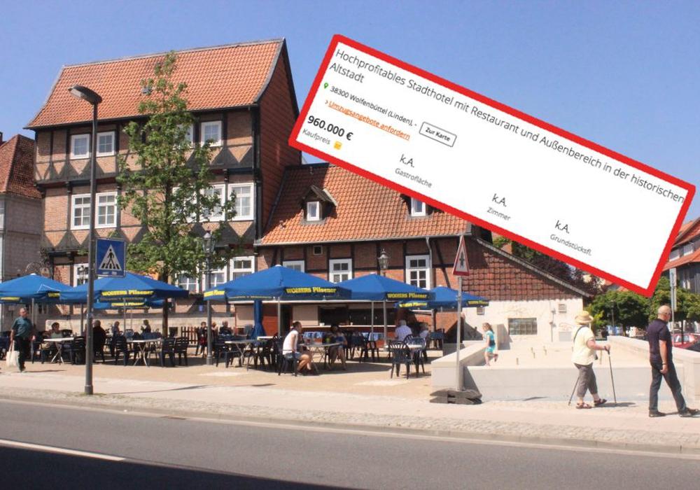 Das Hotel Bayrischer Hof steht zum Verkauf. Foto: Screenshot (immowelt.de)/Anke Donner