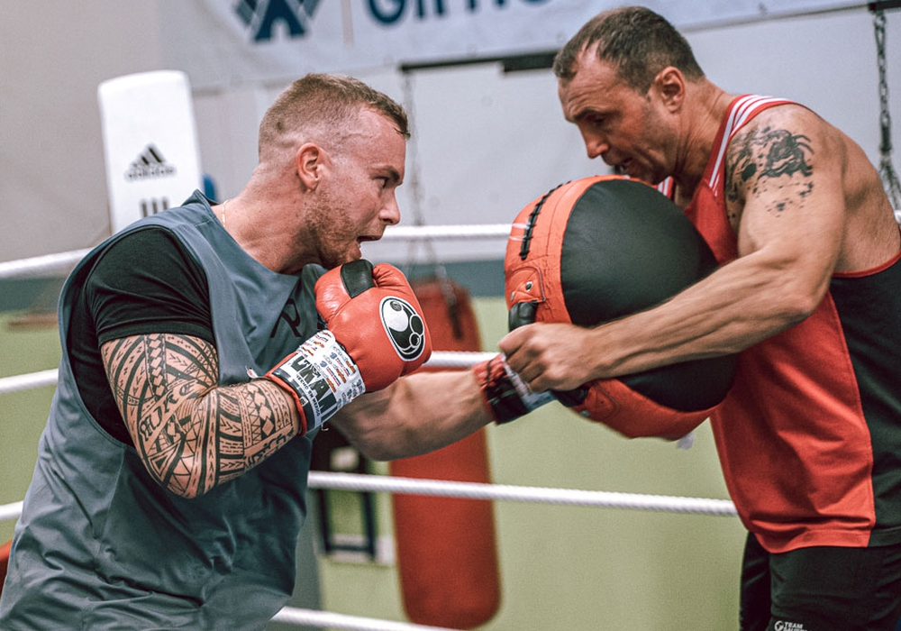 Patrick Rokohl mit Trainer Vitali Boot. Foto: privat