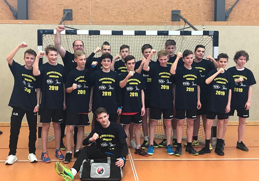 Die männliche C-Jugend des SV Stöckheim ist erneut Meister in der Landesliga Süd. Foto: Verein/privat