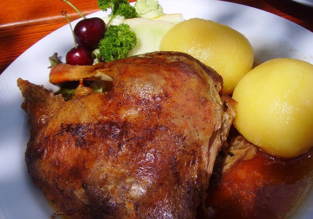 Zum Martinstag in vielen Familien Tradition: Der Gänsebraten. Foto: Pixabay