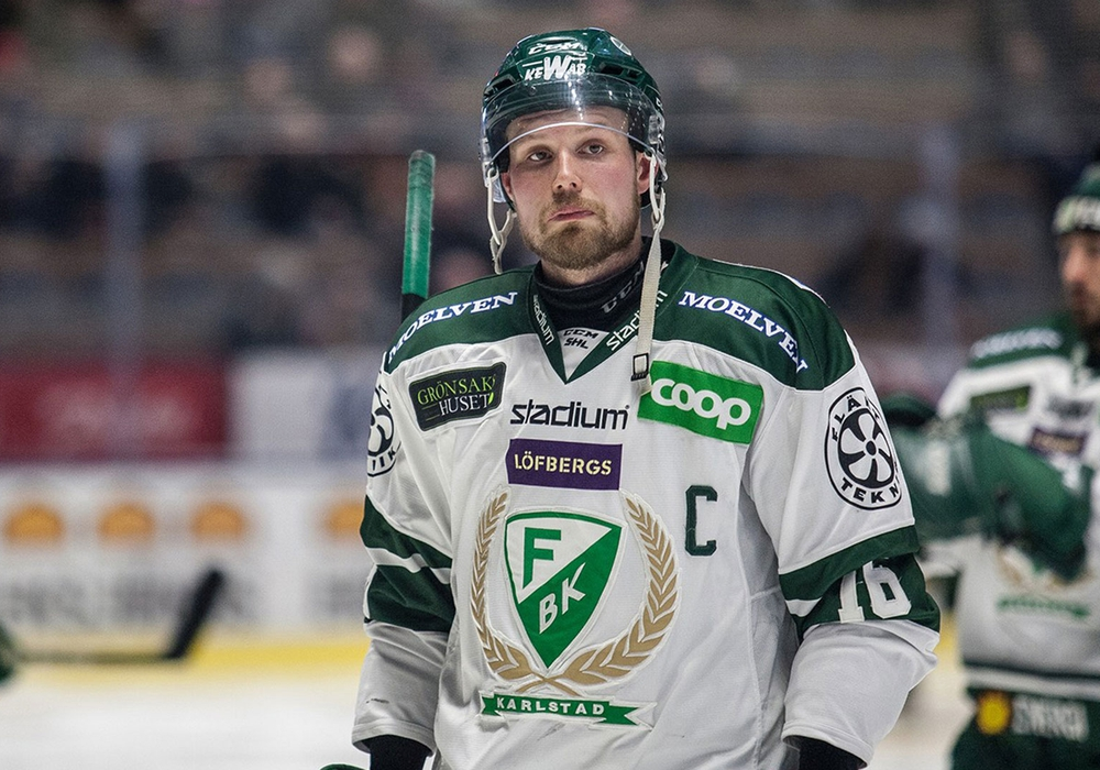 Alexander Johansson komm von Färjestad BK. Foto: Färjestad BK