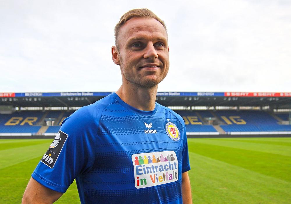 Mannschaftskapitän Bernd Nehrig im Aktionstrikot. Foto: Eintracht Braunschweig