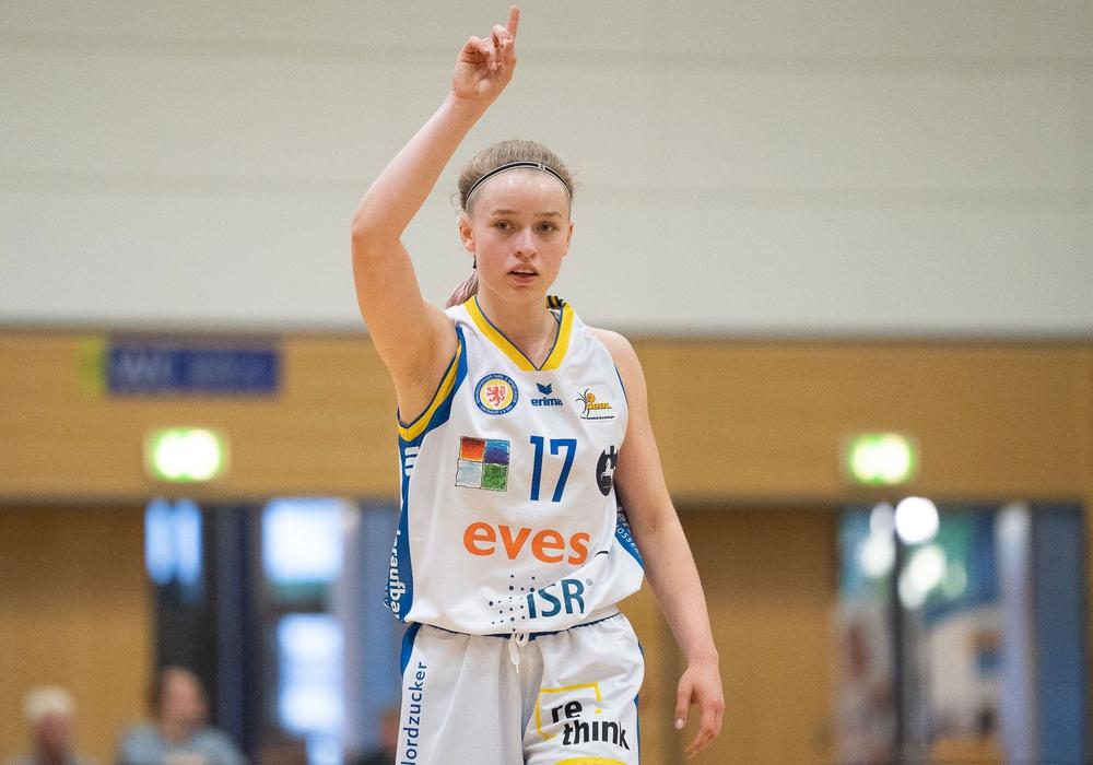 Melody Haertle zeigte eine starke Vorstellung, erzielte 13 Punkte und drei Dreier. Foto: Reinel/PresseBlen.de/Archiv