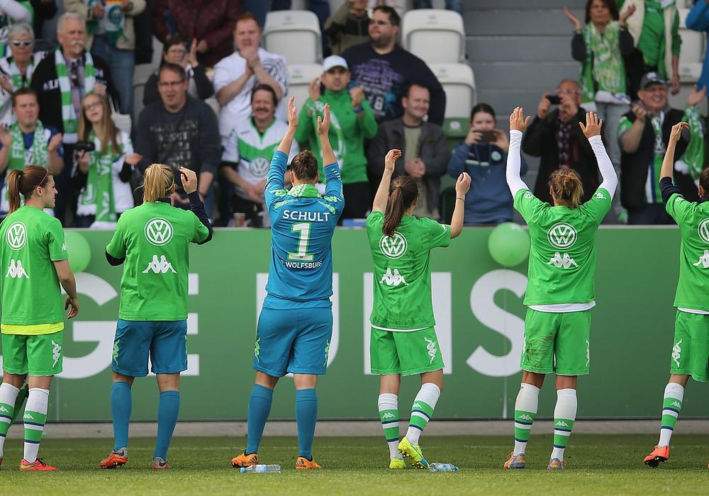 Ein Schritt fehlt noch: VfL Wolfsburg Frauen. Foto: Agentur Hübner/Archiv