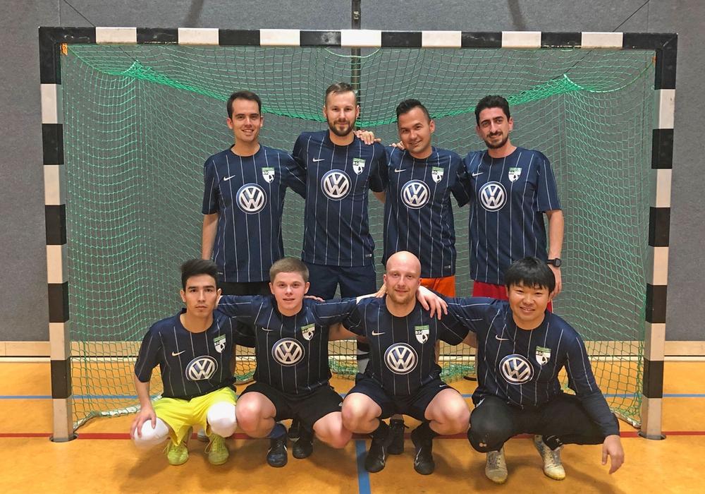 Wechselten vom GSV zum BSC Acosta: David Grieger und das Futsal-Team. Foto: privat
