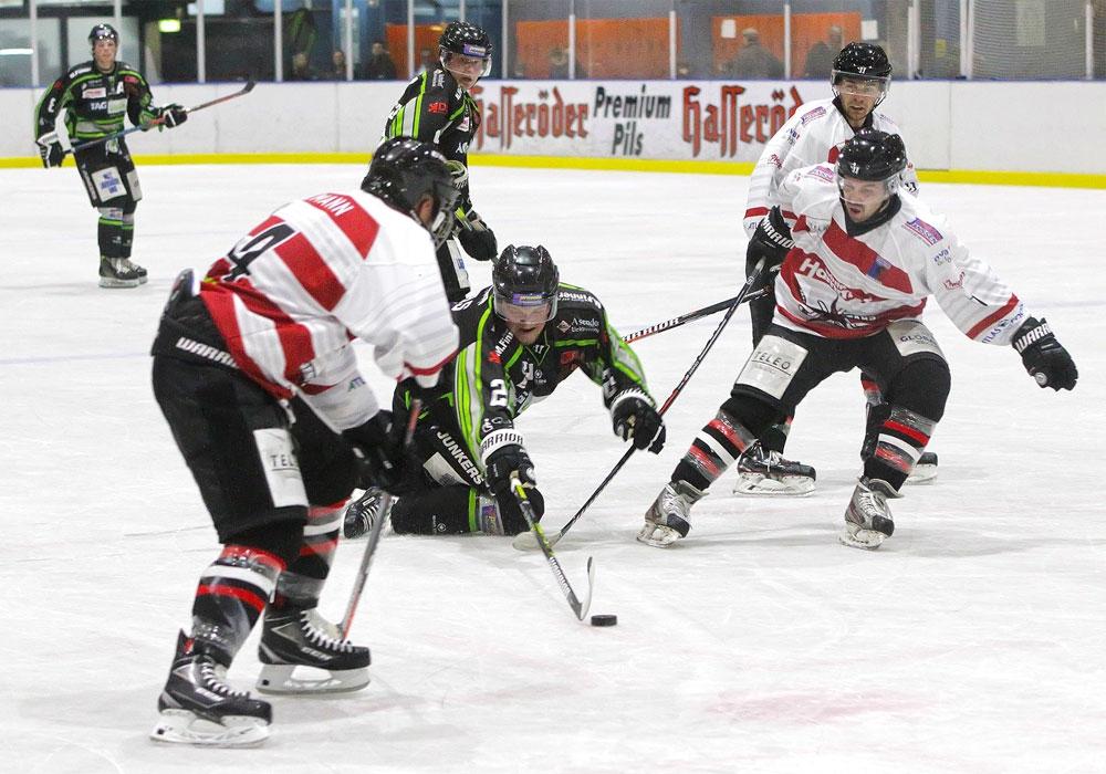 Zum Ende der Hauptrunde mussten die Icefighters sich in Bremen spät geschlagen geben.