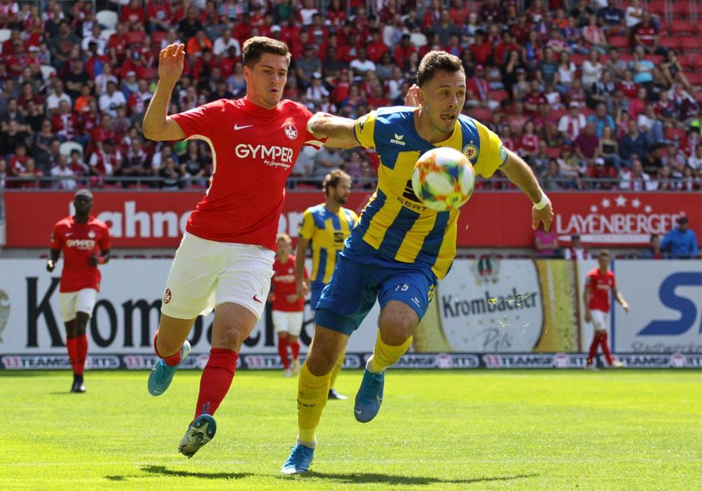 Marcel Bär und Co. siegten im Hinspiel deutlich am Betze.