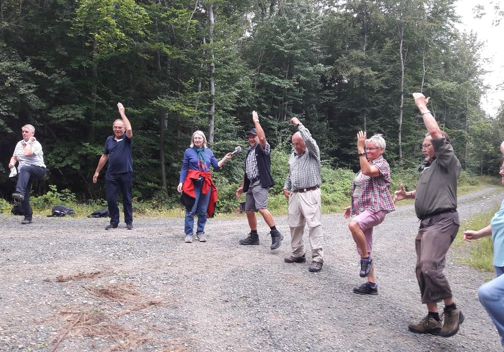 Die jüngste Gesundheitswanderung führte oberhalb Warbergs vom Elmgarten zum Bornteich. Foto: Angelika Lunkewitz