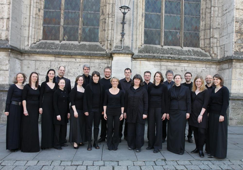 Das Vokalensemble am Braunschweiger Dom. Foto: privat