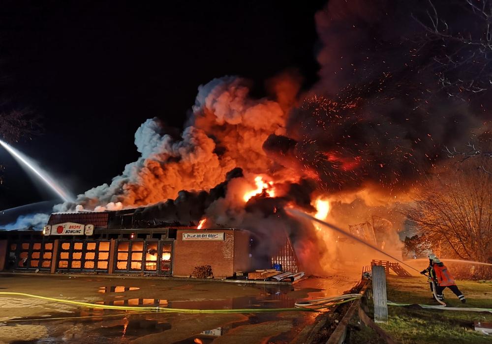 Das Gebäude wurde komplett zerstört.