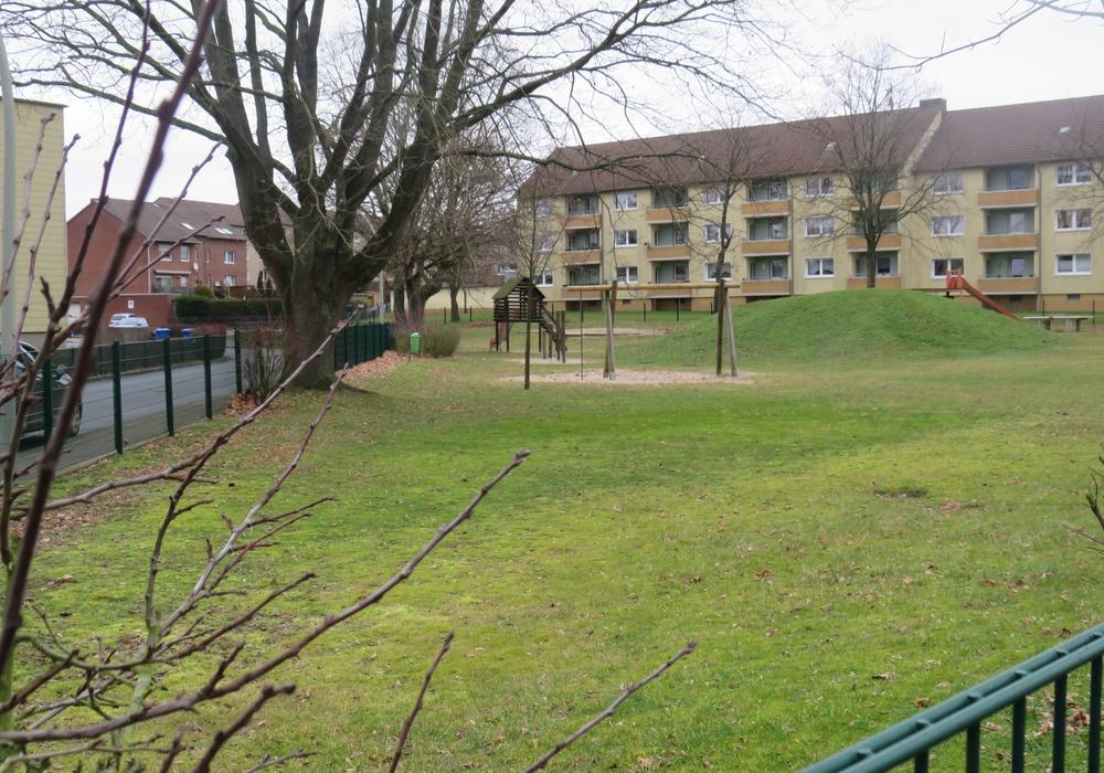 Das Grundstück in Lehre, auf dem bezahlbarer Wohnraum entstehen soll.