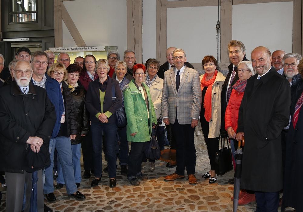 Die Parlamentarische Vereinigung Niedersachsen zu Gast im Rathaus. Fotos: Stadt Wolfenbüttel/rae