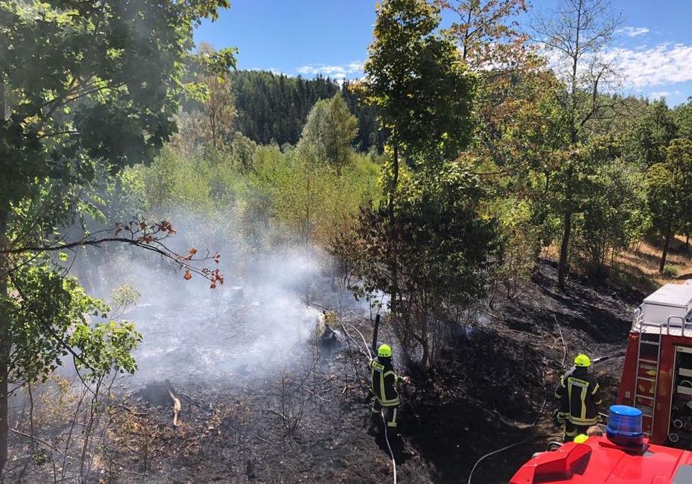 Die Feuerwehr hat den Brand unter Kontrolle. Foto: Feuerwehr Braunlage