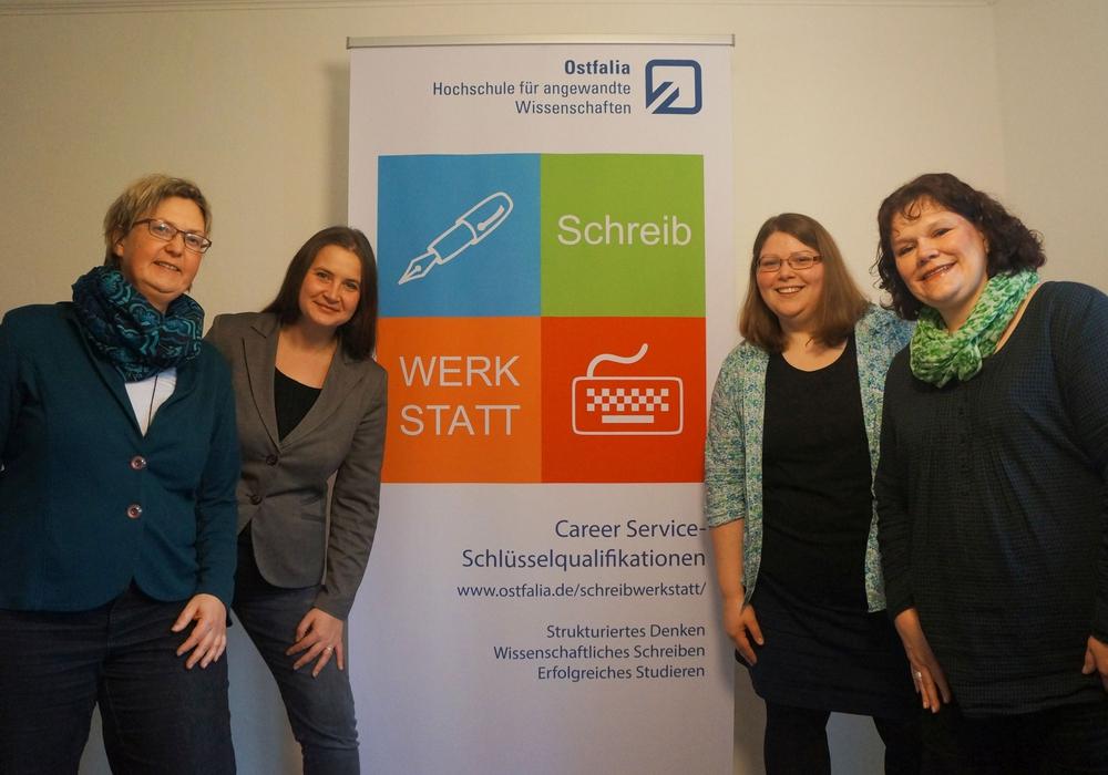 """Das Team """"Schreibwerkstatt"""" (von links): Silke Gausche, Diana Zimper, Anne Rothärmel und Kathrin Wiemann. Foto: Privat"""