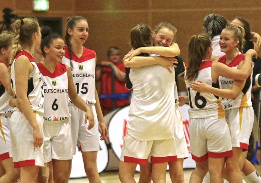 Die Deutschen Basketballerinnen sind erstmals U18-Europameisterinnen! Foto: Frank Vollmer/Archiv