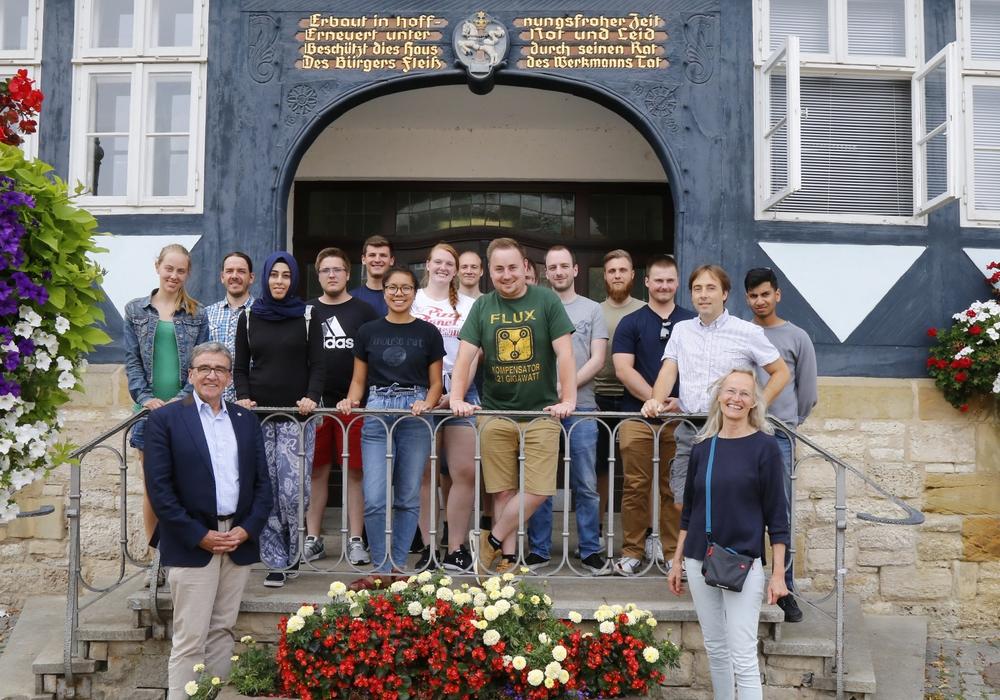 Die Studenten wurden von Thomas Pink im Rathaus empfangen. Foto: Stadt Wolfenbüttel