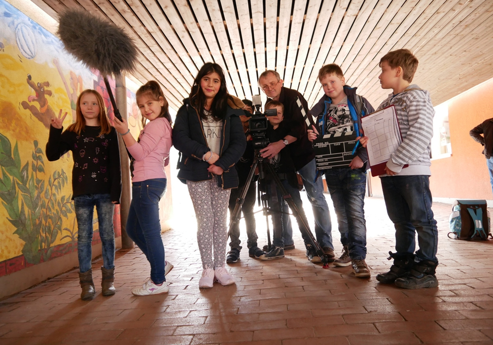 Filmdreh an der Grundschule Fredenberg. Foto/Video: Alexander Panknin