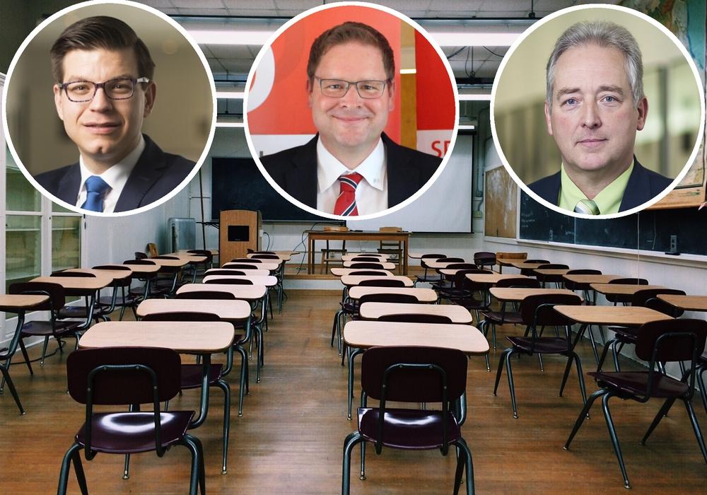Von links: Die Landtagsabgeordneten aus Wolfenbüttel, Björn Försterling (FDP), Marcus Bosse (SPD) und Frank Oesterhelweg (CDU) nahmen auf Anfrage von regionalHeute.de Stellung zu den Ergebnissen der Studie. Foto: Parteien/Parteien