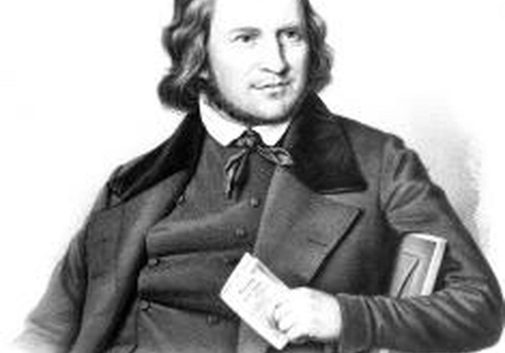 So sah er aus: Hoffmann von Fallersleben, um 1845. Foto: Hoffmann-von-Fallersleben-Museum