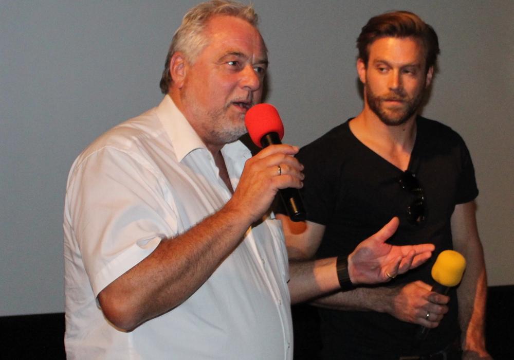 Braunschweigs Kripo-Chef Ulf Küch (li.)  und Schauspieler/Regisseur Ken Duken diskutierten im C1. Fotos: Alexander Dontscheff