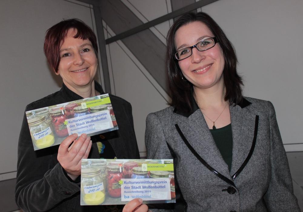 Alexandra Hupp (Kulturbüro) und Vanessa-Isabelle Reinwand-Weiss ( Bundesakademie). Foto: Anke Donner