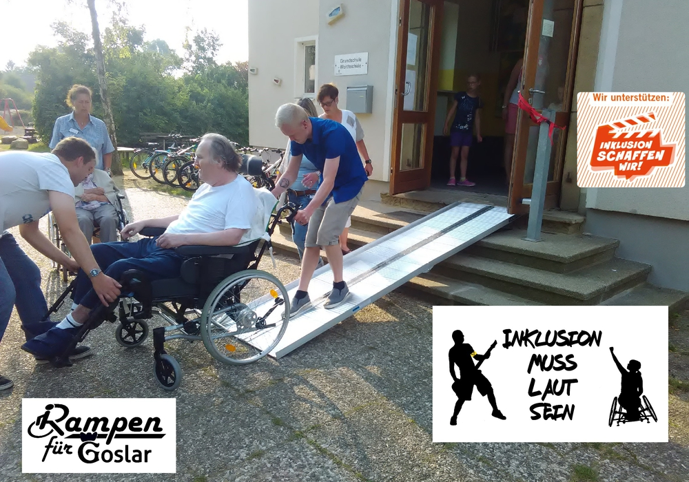 Das Treffen der Worthschüler mit den Senioren des benachbarten Pflegeheims konnte am Mittwoch bereits mit schuleigenen Rampen stattfinden. Foto: Rampen für Goslar e.V.
