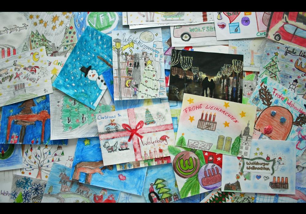 Alle Wolfsburgerinnen und Wolfsburger können eigene Weihnachtskarten kreieren. Foto: WMG