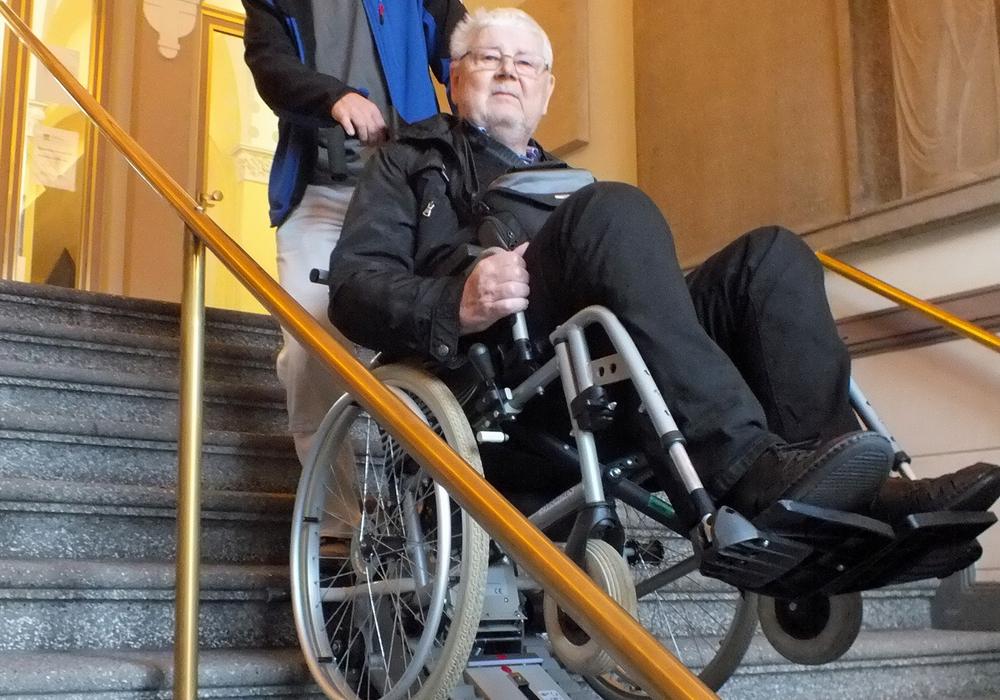 Barrierefreiheit durch treppensteigenden Geräte? Foto: Achim Klaffehn