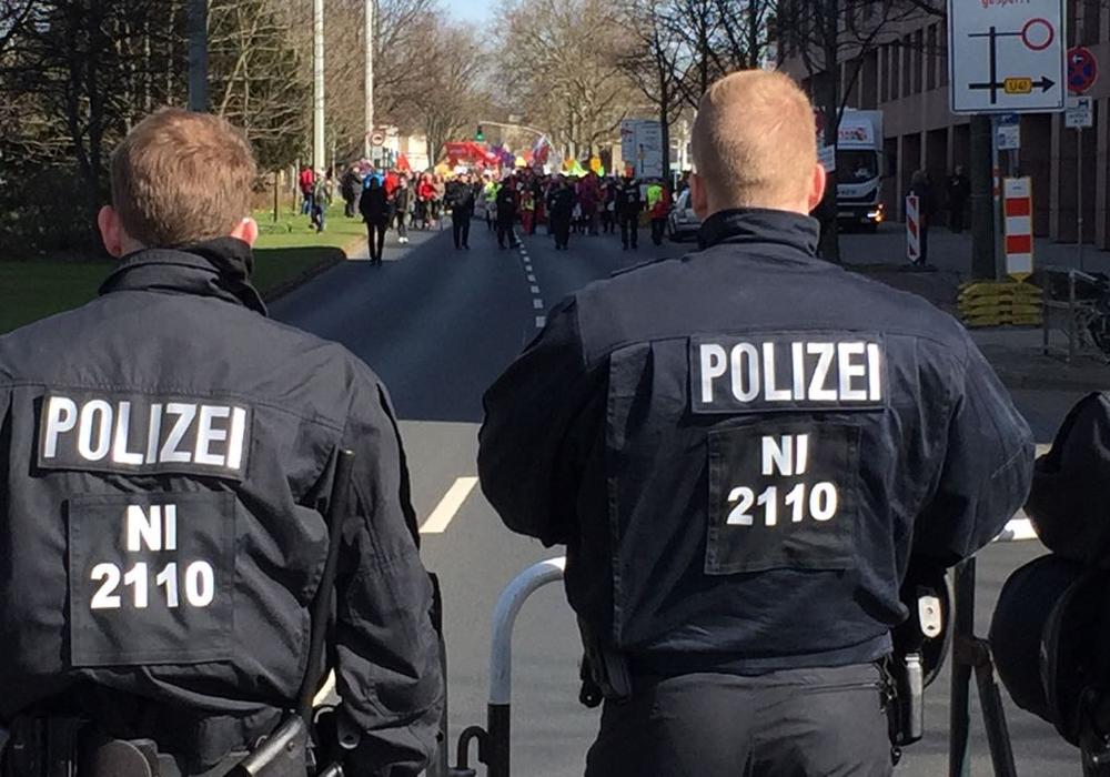 Die Polizei hatte die Lage im Griff. Foto: Sandra Zecchino