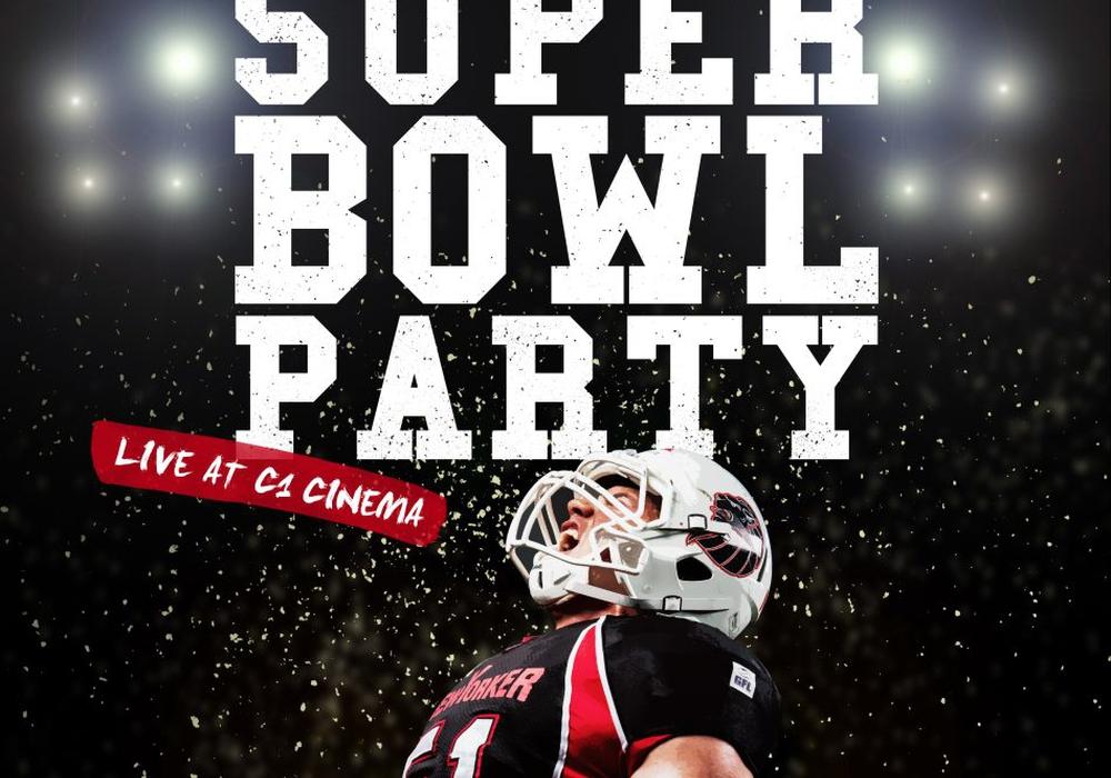 Die New Yorker Lions laden in diesem Jahr wieder zum gemeinsamen Gucken des Super Bowl ein. Poster: Verein