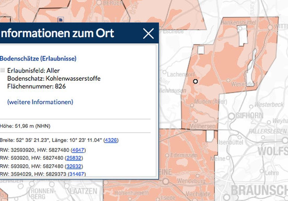 Dieses Gebiet im Landkreis Gifhorn darf Vermillion Energy Germany GmbH noch Erdöl- und Ergasvorkommen untersuchen. Bild: LBEG Niedersachsen