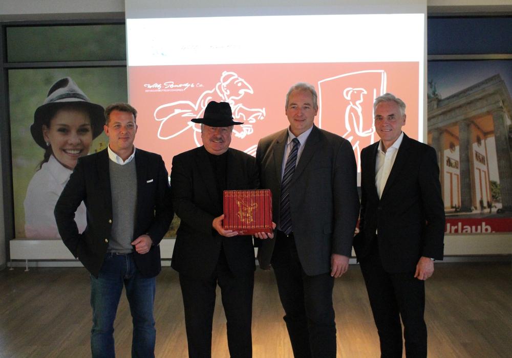 Stellten den Wilhelm Busch-Comicpreis vor: Steffen Maschke, Dr. Georg Ruppelt, Frank Oesterhelweg und Wilhelm Schmidt. Foto: Bernd Dukiewitz