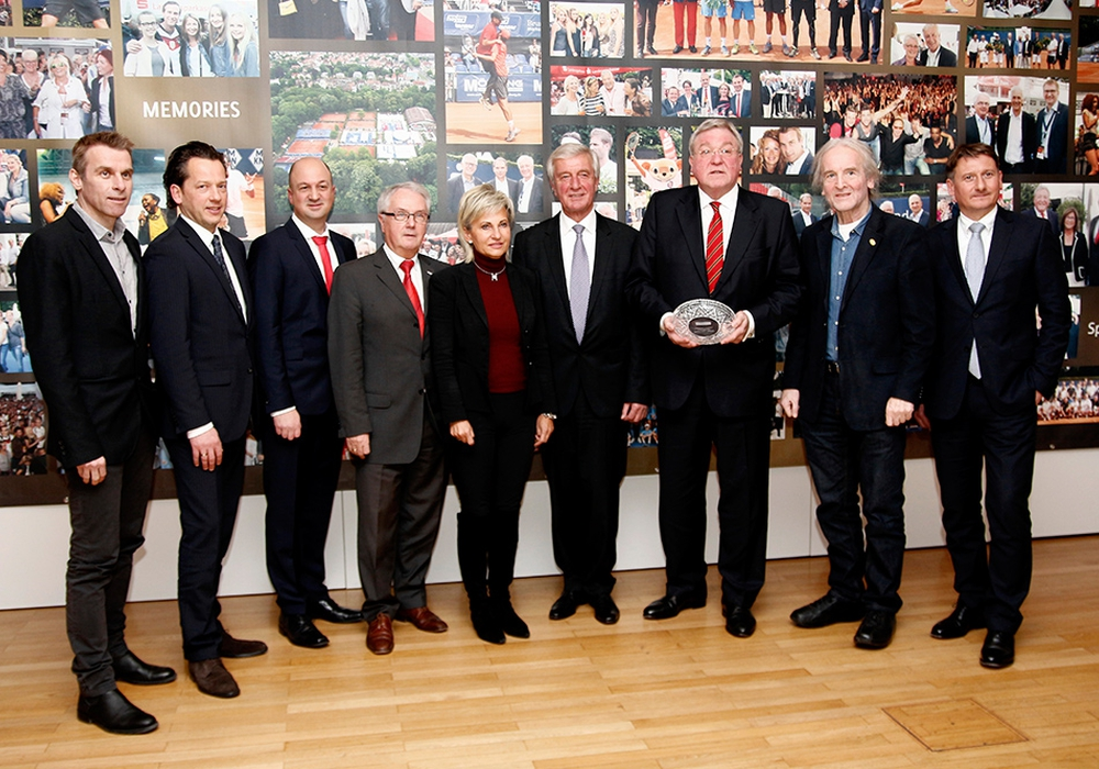 Am Dienstag trafen sich die Sponsoren des ATP-Turniers. Foto: Siegfried Nickel