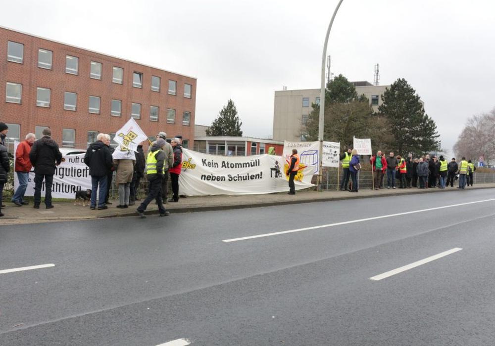 Dass die Proteste gegen Eckert & Ziegler nun enden scheint unwahrscheinlich. Foto: Archiv/Robert Braumann
