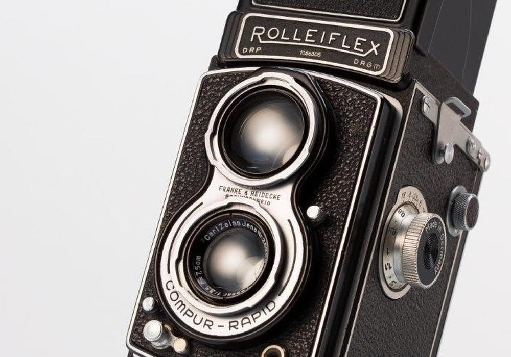 Die Rolleiflex-Kamera. Foto: Städtisches Museum Braunschweig/Dirk Scherer