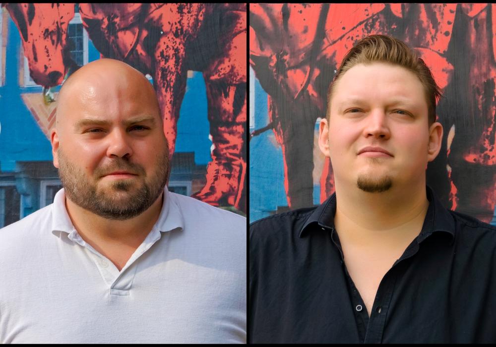 Florian Röpke und André Owczarek laden zur Bürgersprechstunde in den Roten Pavillon ein. Foto: Ralph-Fischer-Design
