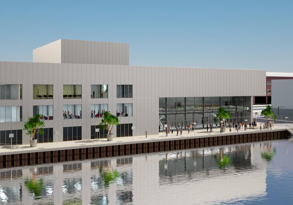 Wie in dieser Animation soll die künftige Veranstaltungshalle in der Autostadt aussehen. Foto: Autostadt/Autostadt GmbH/obs