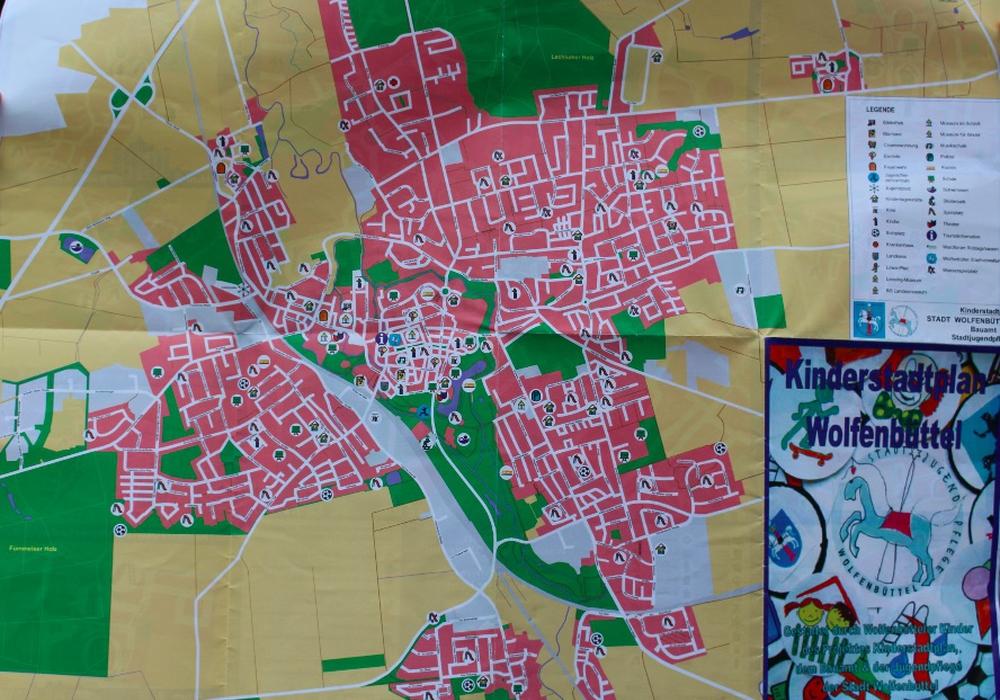 Ein Stadtplan für Kinder. Foto: Max Förster