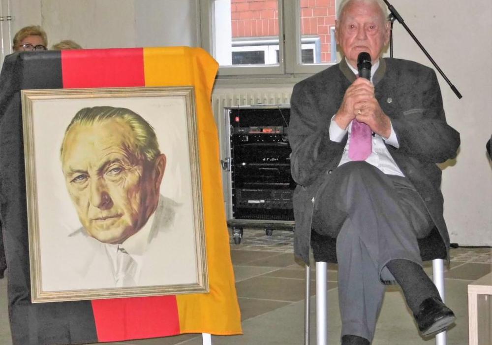 Günter-Helge Strickstrack, einziges noch lebendes Gründungsmitglied der CDU sowie Begleiter Adenauers, war einer der Ehrengäste. Fotos: CDU