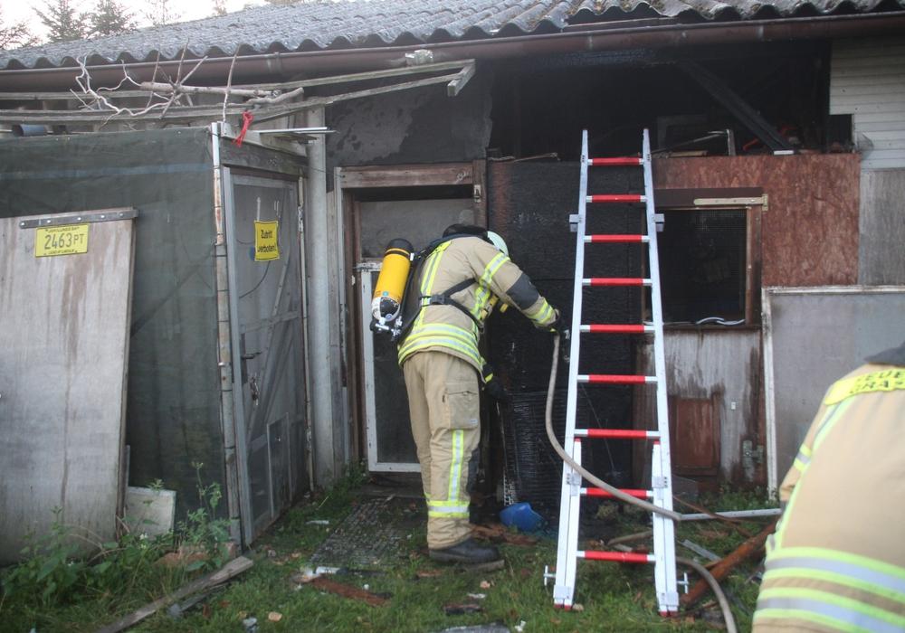 Die Ursache des Feuers ist derzeit noch unklar. Foto: Feuerwehr
