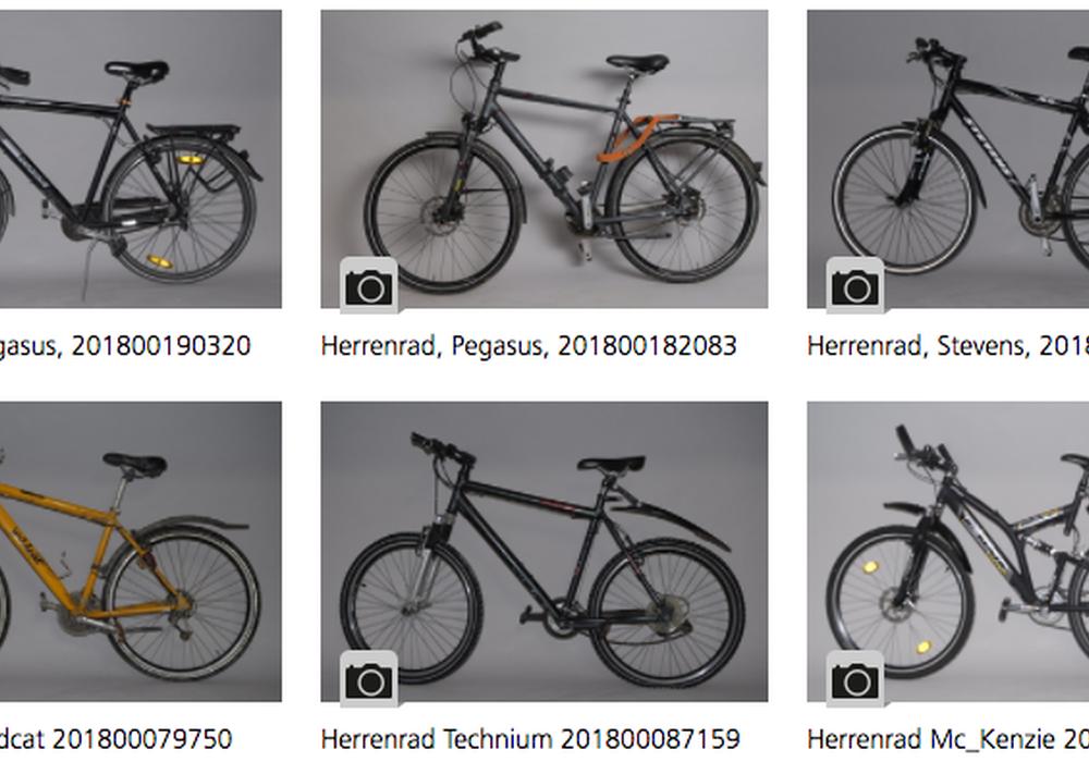 """Auf der Internetseite der Polizei Braunschweig gibt es nun einen """"digitalen Fahrradkeller"""". Screenshot: Polizei Braunschweig"""